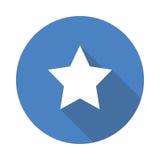 Estrela do vidro verde do vetor fotografia de stock royalty free