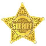 Estrela do xerife Fotografia de Stock Royalty Free