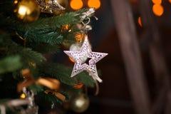 Estrela dos ristmas do ouro Imagem de Stock