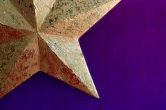 Estrela dourada fotografia de stock