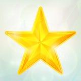 Estrela dourada Foto de Stock Royalty Free