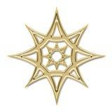 Estrela dourada ilustração stock
