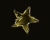 Estrela dourada Foto de Stock