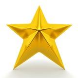 Estrela dourada brilhante Fotografia de Stock Royalty Free
