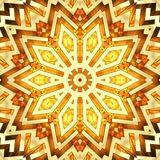 Estrela dourada brilhante do caleidoscópio Imagens de Stock