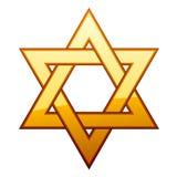 Estrela dourada de David Imagem de Stock
