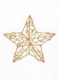 Estrela dourada do Natal Fotografia de Stock Royalty Free