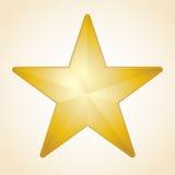 Estrela dourada do vetor Foto de Stock Royalty Free