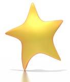 Estrela dourada estilizado no fundo branco Foto de Stock Royalty Free