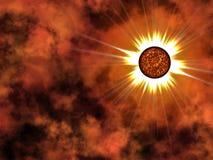 Estrela dourada no espaço. Fotos de Stock Royalty Free
