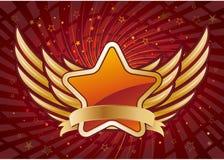 estrela e asas Fotografia de Stock Royalty Free