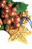 Estrela e baga do ouro florais fotografia de stock