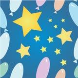 Estrela e bolas imagens de stock