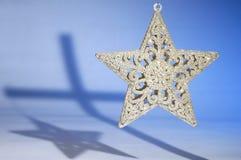 Estrela e cruz do Natal Imagens de Stock