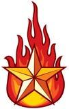 Estrela e flama ilustração do vetor