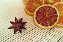 Estrela e laranja do anis Imagem de Stock