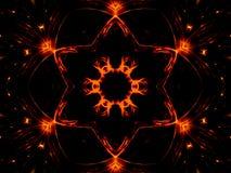 Estrela e luzes Imagem de Stock