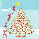 Estrela em uma árvore de Natal Fotos de Stock Royalty Free