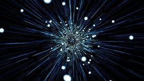 Estrela estourada no preto ilustração stock