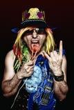 Estrela excêntrica do rock and roll Foto de Stock