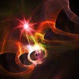 Estrela fantástica do fractal Gráficos de quadriculação imagens de stock royalty free