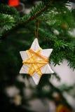 Estrela feito a mão do Natal imagem de stock royalty free