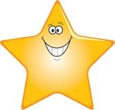 Estrela feliz ilustração royalty free