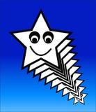 Estrela feliz 6 ilustração royalty free