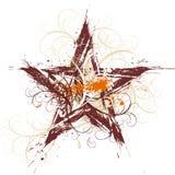 Estrela floral de Grunge Foto de Stock Royalty Free