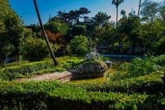 Estrela garden in Lisbon. View of the Estrela garden in Lisbon stock images
