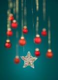 Estrela Glittery do Natal Imagens de Stock