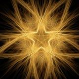 Estrela iluminada Imagem de Stock Royalty Free