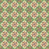 Estrela infinito do verde da quadriculação Foto de Stock