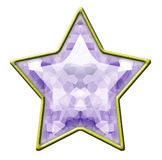 Estrela isolada do diamante Imagens de Stock Royalty Free