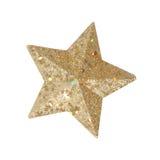 Estrela isolada do Natal fotografia de stock royalty free
