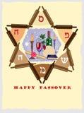 Estrela judaica da páscoa judaica Fotografia de Stock