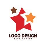 Estrela Logo Design Imagem de Stock Royalty Free