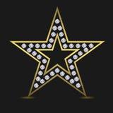 Estrela luxuosa dourada Fotografia de Stock Royalty Free