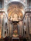 Estrela main altar. Estrela Basilica main alter view Royalty Free Stock Photo