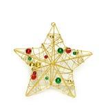 Estrela metálica imagens de stock royalty free