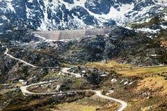 Estrela Mountains. Valley in Estrela Mountains - Portuguese Serra da Estrela or Star Mountain Range, highest mountains in Portugal and a national park Stock Images