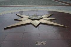Estrela no quadrado da vitória em Kaliningrad Foto de Stock Royalty Free
