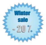 Estrela para preços de disconto do inverno Fotografia de Stock Royalty Free