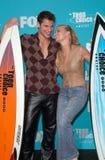 Estrela pop, 98 graus, Jessica Simpson, Nick Lachey Imagem de Stock Royalty Free