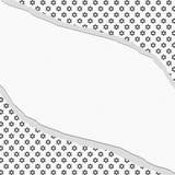 Estrela preto e branco de David Patterned Torn Background Imagens de Stock