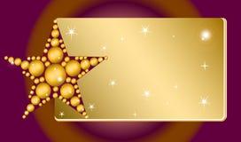 Estrela projetada Imagem de Stock Royalty Free