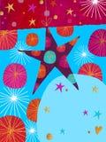 Estrela - projeto de cartão do Xmas Fotos de Stock