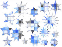 Estrela quadrada azul abstrata oferta especial dada forma ilustração stock