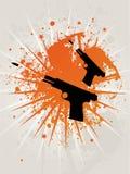 Estrela retro Pistoles de Grunge Ilustração do Vetor
