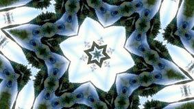 Estrela seis-final abstrata com testes padrões. Imagens de Stock
